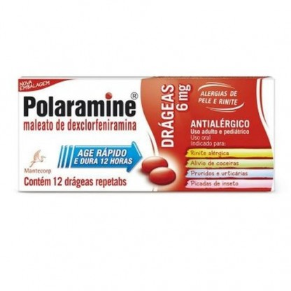 POLARAMINE 6 MG 12 COMP.