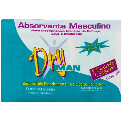 ABSORVENTE MASCULINO DRYMAN (PCT.C/10)