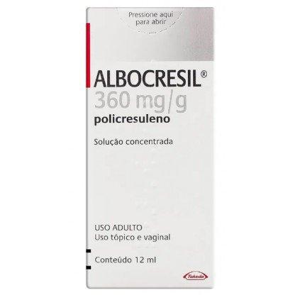 ALBOCRESIL SOLUCAO 12 ML