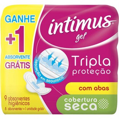 ABS INTIMUS NORMAL SECA C/ABAS L 9 P 8
