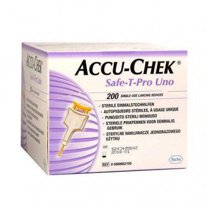 ACCU-CHEK SAFE-T PRO UNO LANCETA C/200